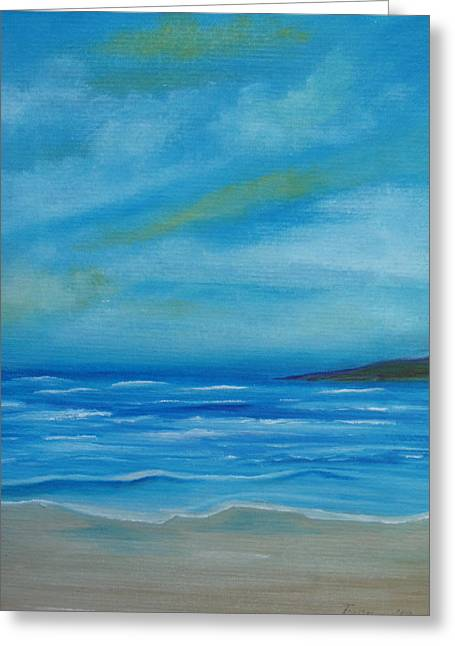 On The Beach Greeting Cards - On My Island Greeting Card by Fiona Dinali