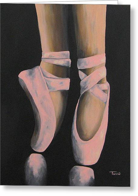 Ballet Dancers Greeting Cards - On Point III Greeting Card by Torrie Smiley