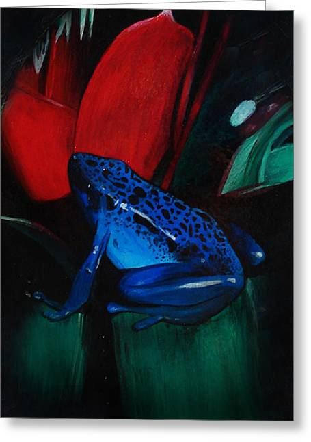 Carrie Glenn Greeting Cards - On Safari - Poison Dart Frog Greeting Card by Carrie Jackson