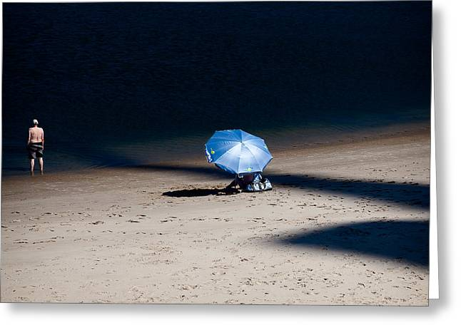 On The Beach Greeting Card by Dave Bowman