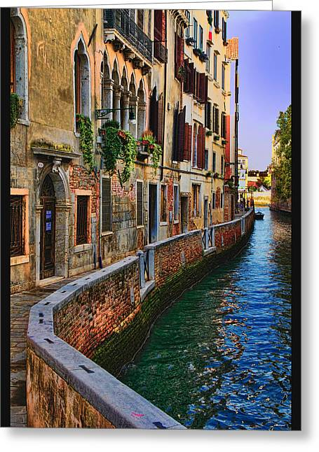 On The Canal-venice Greeting Card by Tom Prendergast