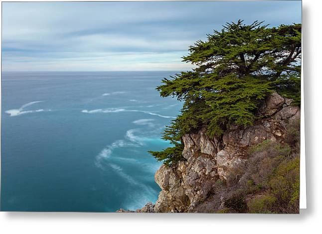 Big Sur California Greeting Cards - On The Cliff - Horizontal Greeting Card by Jonathan Nguyen