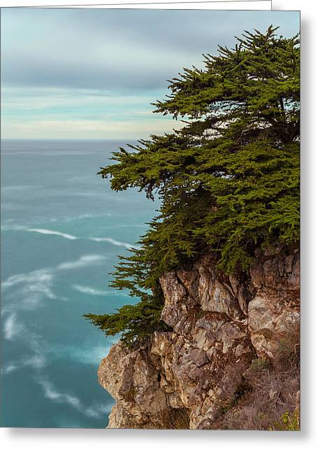Big Sur Beach Greeting Cards - On The Cliff - Vertical Greeting Card by Jonathan Nguyen
