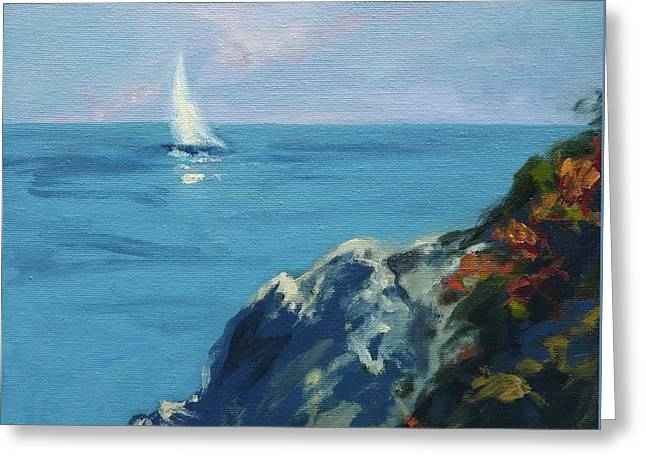 Coastal Maine Greeting Cards - On The Coast of Maine Greeting Card by Lisa  Ridabock