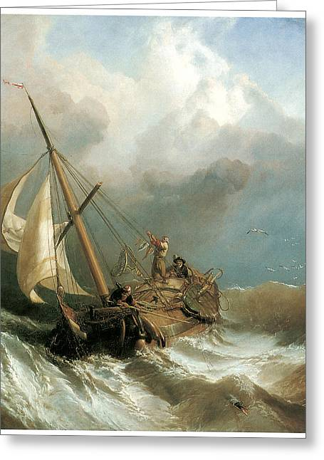 Sea Going Greeting Cards - On the Dogger Bank Greeting Card by Clarkson Stanfield