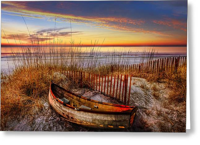 Sanddunes Greeting Cards - On The Dunes Greeting Card by Debra and Dave Vanderlaan