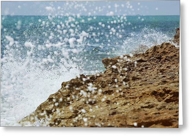 Florida East Coast Greeting Cards - On the Edge Blowing Rocks Preserve Jupiter Island Florida Greeting Card by Michelle Wiarda