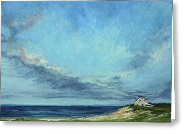 Storm Clouds Cape Cod Greeting Cards - On The Edge Greeting Card by Lisa  Ridabock