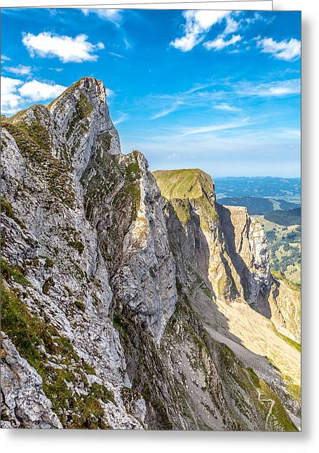 Swiss Photographs Greeting Cards - On the Edge Greeting Card by W Chris Fooshee