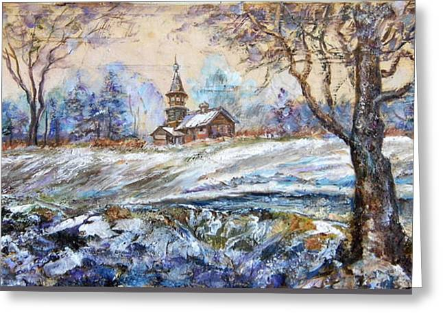 The Church Greeting Cards - On the fringe of the forest Greeting Card by Maya Bukhina
