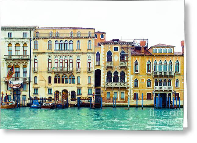 On The Grand Canal Greeting Card by Sonja Quintero