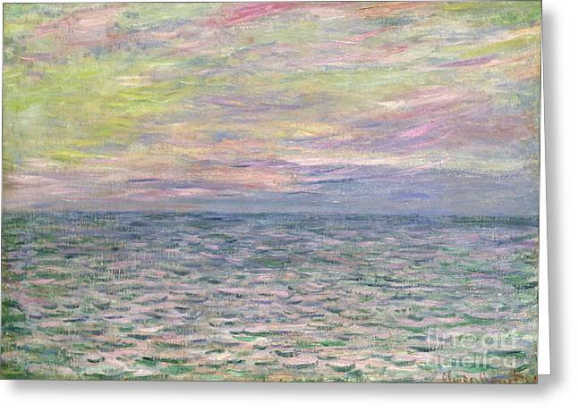 Ripples Greeting Cards - On the High Seas Greeting Card by Claude Monet