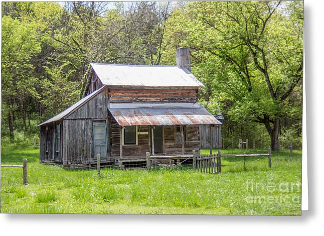 Log Cabins Greeting Cards - On the Homestead Greeting Card by Carolyn Fox