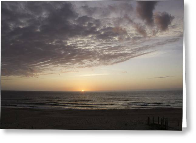 Sand Fences Greeting Cards - On the Horizon 2 Greeting Card by Teresa Mucha