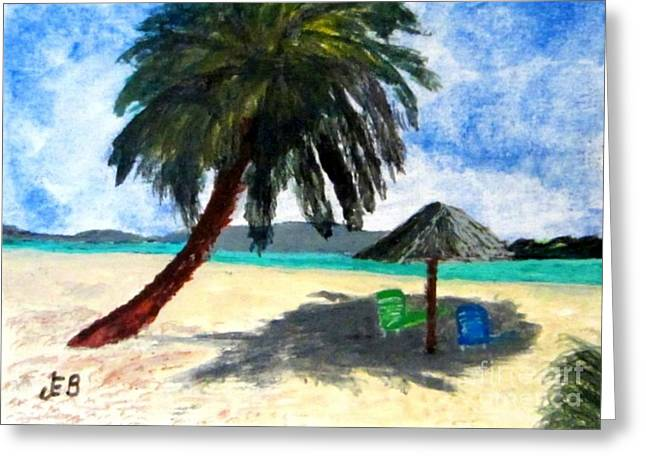 Lawn Chair Greeting Cards - On The Island Greeting Card by John Burch