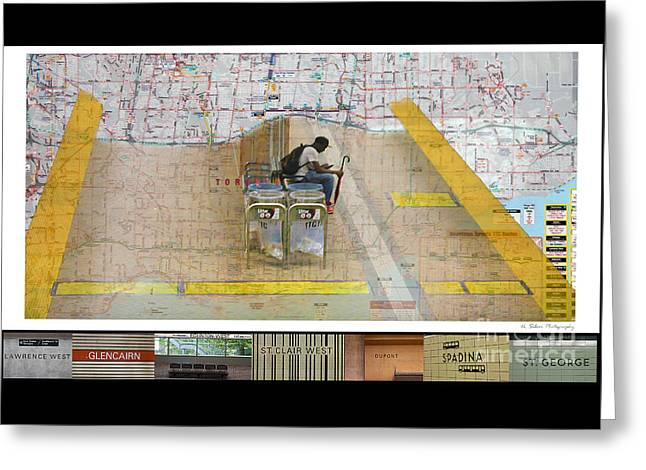 Toronto Transit Commission Greeting Cards - On The Line Greeting Card by Nina Silver