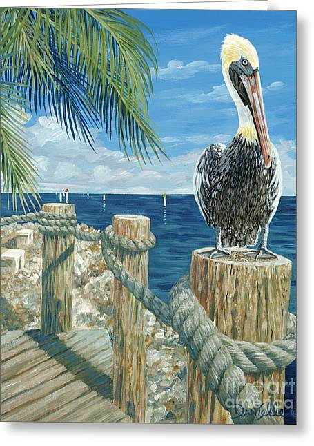 On The Lookout Greeting Card by Danielle  Perry