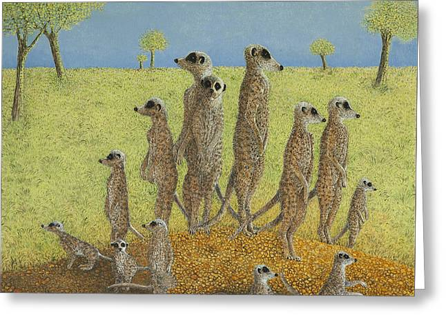 On The Lookout Greeting Card by Pat Scott