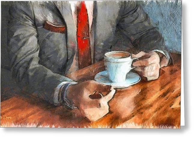 On  The Money - Da Greeting Card by Leonardo Digenio