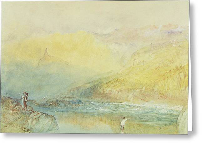 On The Mosell, Near Traben Trarabach Greeting Card by Joseph Mallord William Turner