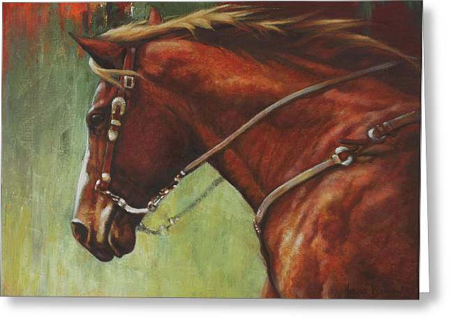 Bay Horse Greeting Cards - On The Move Greeting Card by Harvie Brown