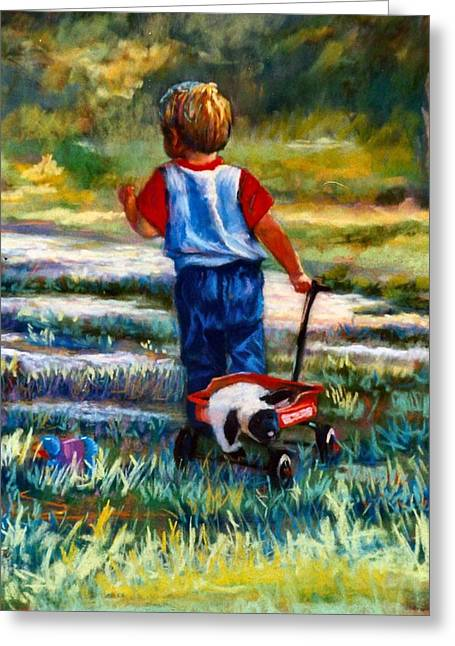 Wagon Pastels Greeting Cards - On the Move Greeting Card by Jimmie Trotter