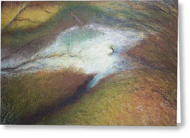 Wetlands Pastels Greeting Cards - On the Other Side Greeting Card by Jackie Bush-Turner