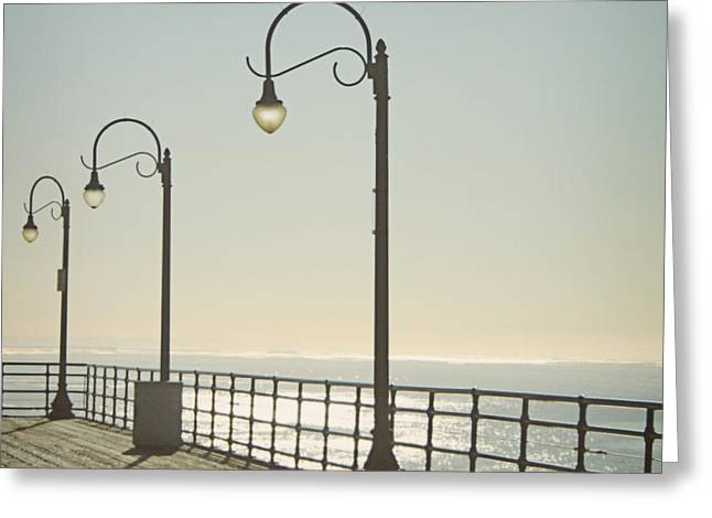 On The Pier Greeting Card by Linda Woods