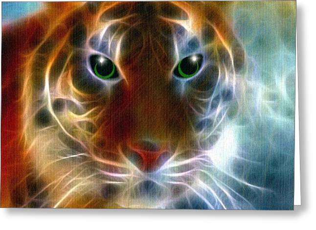 On The Prowl Greeting Card by Madeline  Allen - SmudgeArt