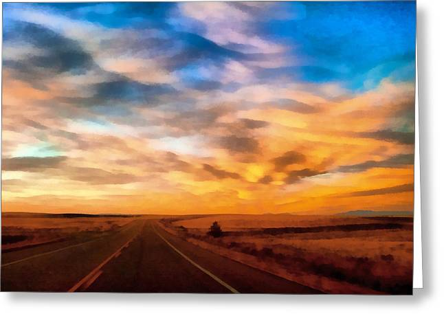 On The Road Again Greeting Card by Ernie Echols