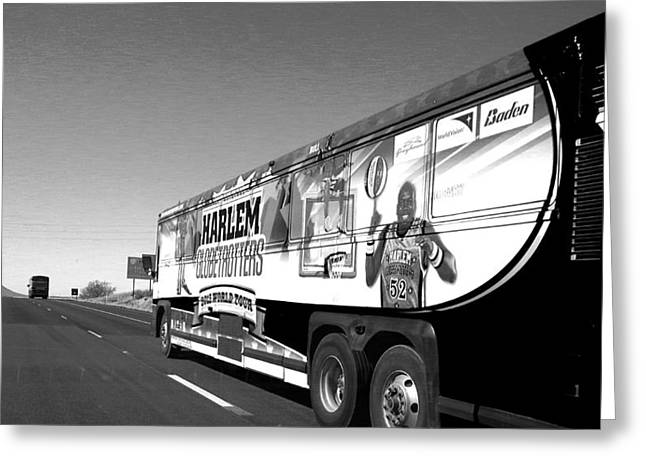 Harlem Globetrotters Greeting Cards - On The Road Again Greeting Card by Tim Coleman