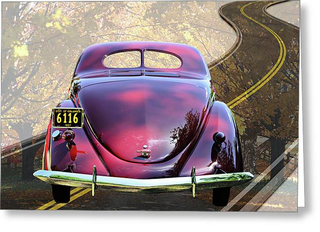 Muscle Greeting Cards - On the Road Greeting Card by Gary Adkins