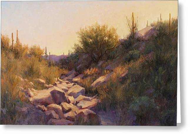 On The Rocks Greeting Card by Becky Joy
