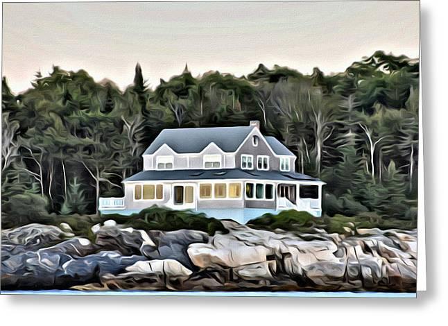 Coastal Maine Greeting Cards - On the Rocks Greeting Card by Judy Bernier