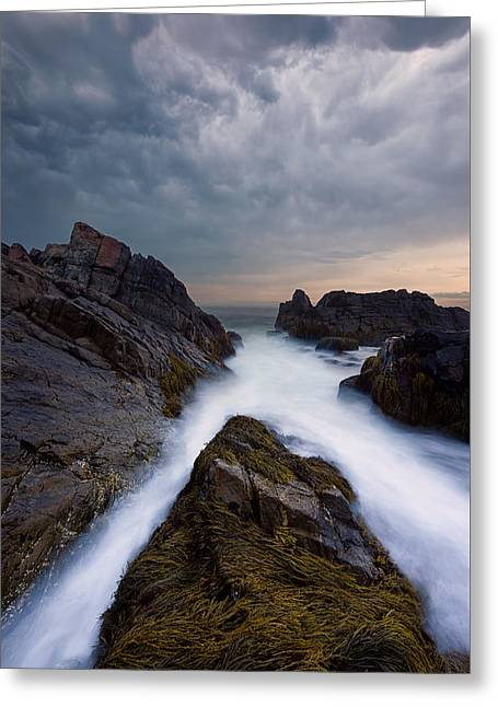 On The Rocks Greeting Card by Michael Blanchette