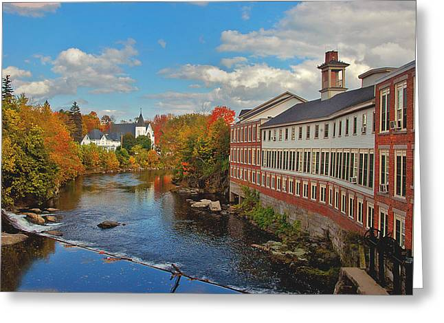 Reflections In River Greeting Cards - On the Souhegan Greeting Card by Joann Vitali
