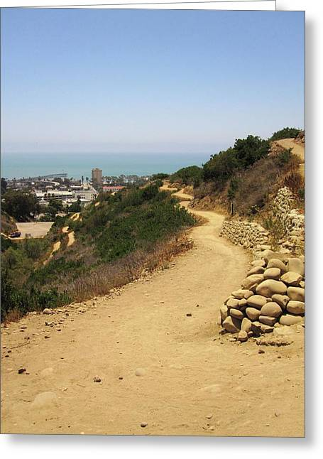 Ventura California Greeting Cards - On the Trail Greeting Card by MaryEllen Frazee