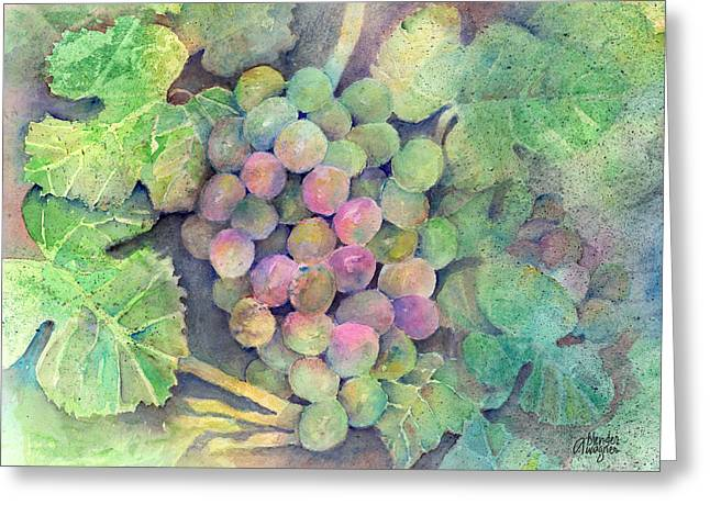 On The Vine Greeting Card by Arline Wagner