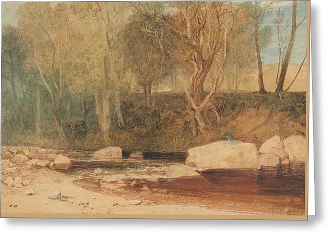 On The Washburn Greeting Card by Joseph Mallord William Turner