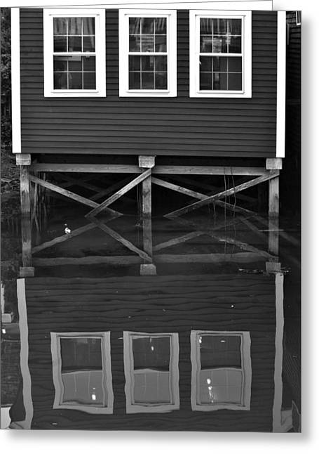 Kennebunkport Greeting Cards - On The Waterfront - Kennebunkport Maine Greeting Card by Michael Pardo