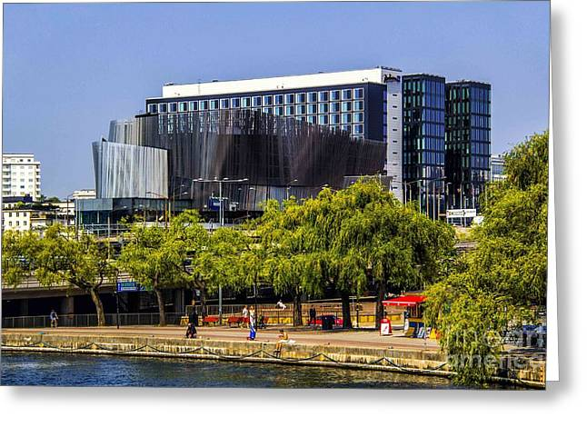 Modern Photographs Greeting Cards - On The Waterfront Greeting Card by Roberta Bragan