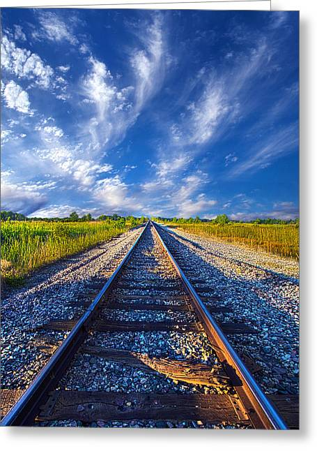 Train Tracks Greeting Cards - On The Way Greeting Card by Phil Koch