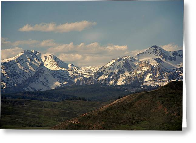 Nature Scene Greeting Cards - On the way to Jacksonhole WY Greeting Card by Susanne Van Hulst