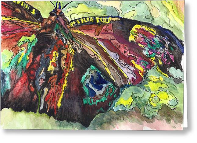 Flying Animal Greeting Cards - On the Wings of a Butterfly Greeting Card by Jean M Klein