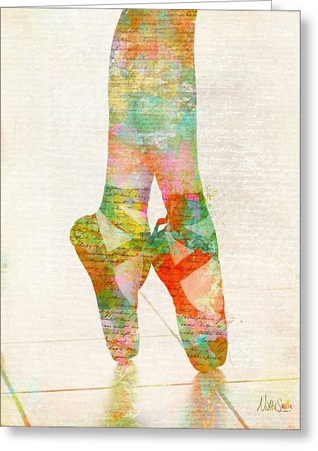 Ballet Shoes Greeting Cards - On Tippie Toes Greeting Card by Nikki Marie Smith