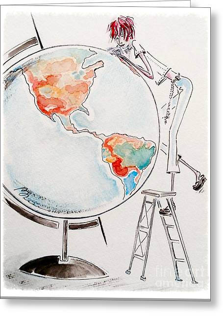 Wishes Greeting Cards - On Top of the World Greeting Card by Barbara Chase