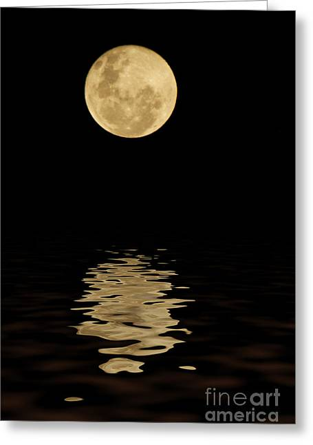 Illuminate Greeting Cards - Once in a Blue Moon Greeting Card by Darren Fisher