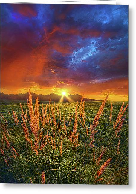 Once Uopn A Dawning Light Greeting Card by Phil Koch