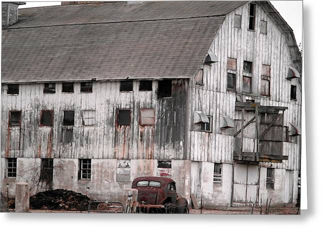 Abandonded Greeting Cards - Once upon a barn Greeting Card by David Bearden