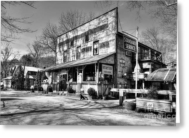 Rural Indiana Greeting Cards - Once Upon A Story BW Greeting Card by Mel Steinhauer